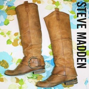 🆕️ Steve Madden Buckled Knee-High Leather Boots